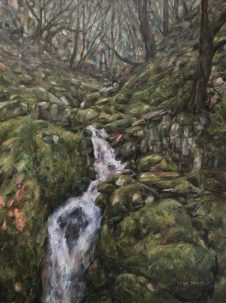 Painting of Nant Dolfolau, in the Elan Valley