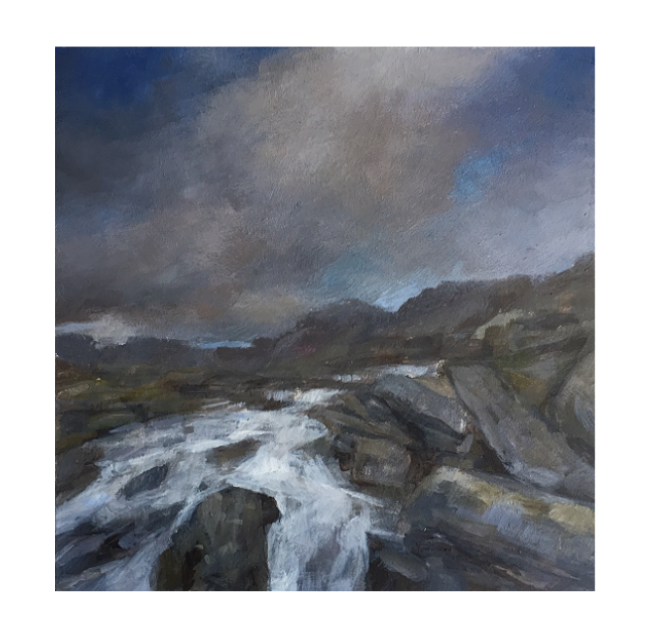 Welsh Mountain Stream Landscape painting for sale