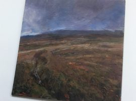 Painting of autumn in the Brecon Beacons