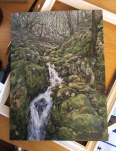 Original oil painting of the Elan Valley