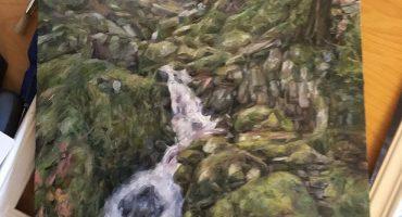 Original oil painting of the Elan Valley